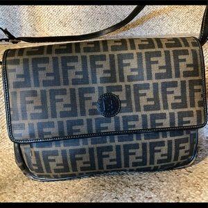 Vintage Fendi Zucca Print Crossbody Bag